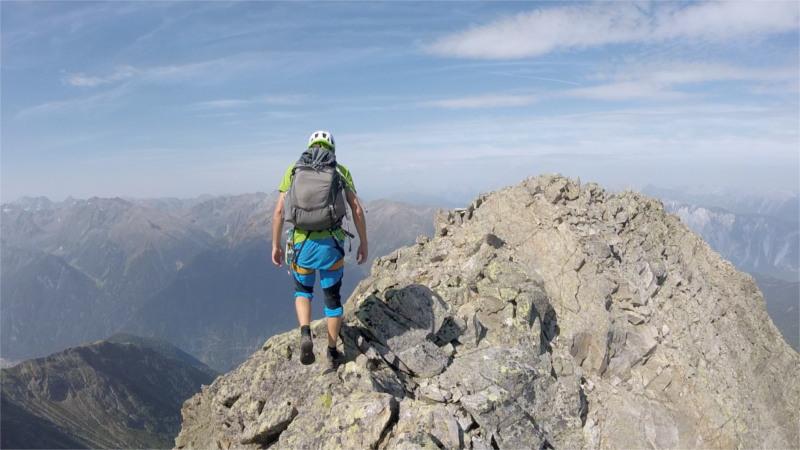 Andreas am Gipfelgrat
