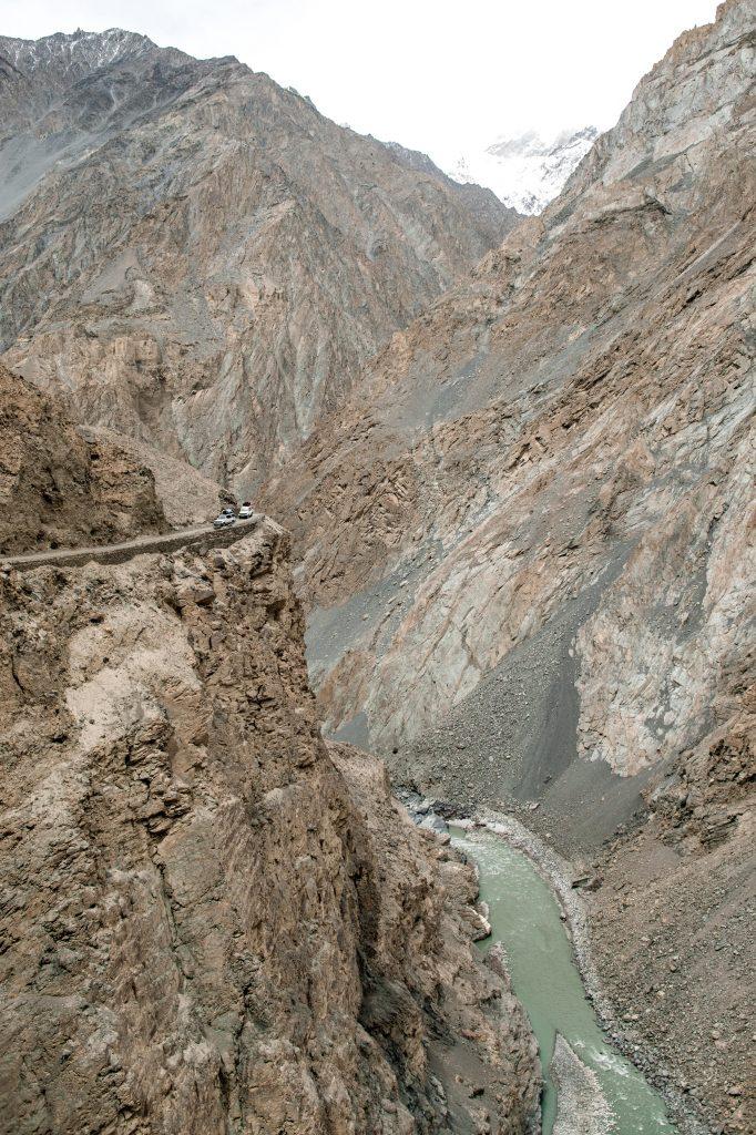 An der höchsten Stelle gehts schon mal 300m runter!