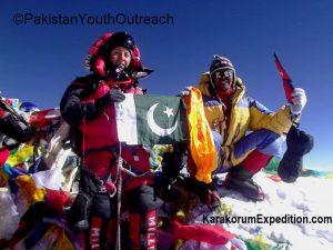 Samina am Gipfel des Mount Everest